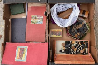 A collection of vintage childrens board games to include Snakes and Sadders, Patches, draughts,
