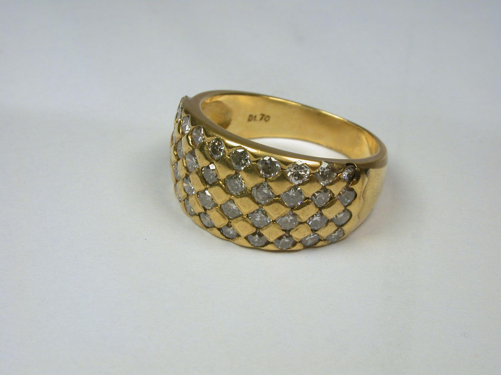 Ring 750, ca. 1,70 ct - 6,03 Gramm