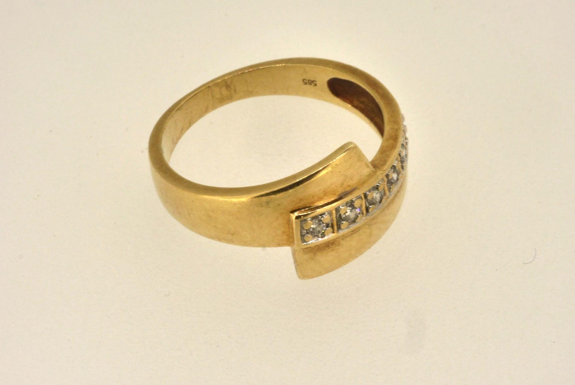 Ring GG 585, Zirkonia, 3,05 Gramm
