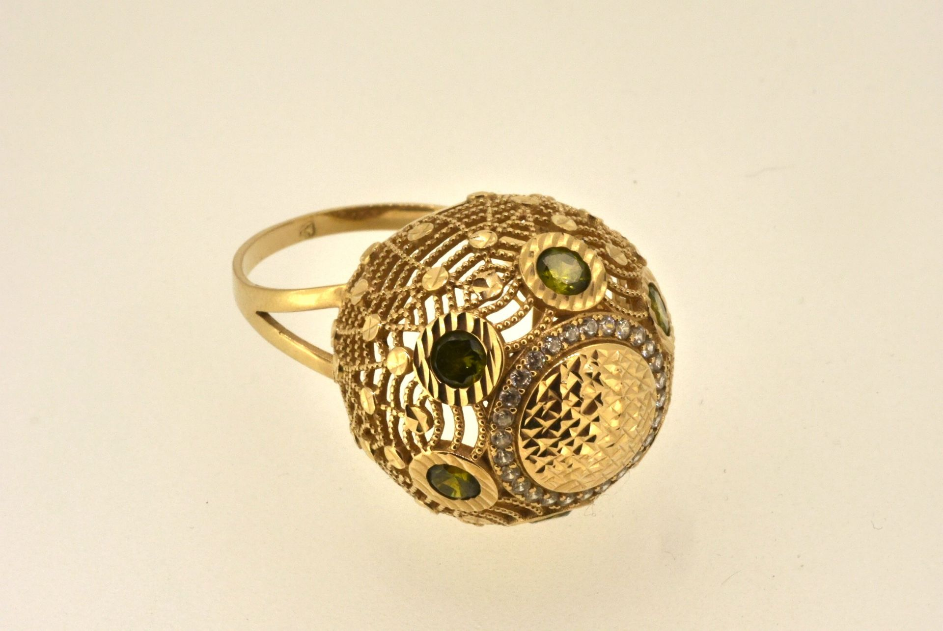 Ring 585, Zirkonia, 7,21 Gramm
