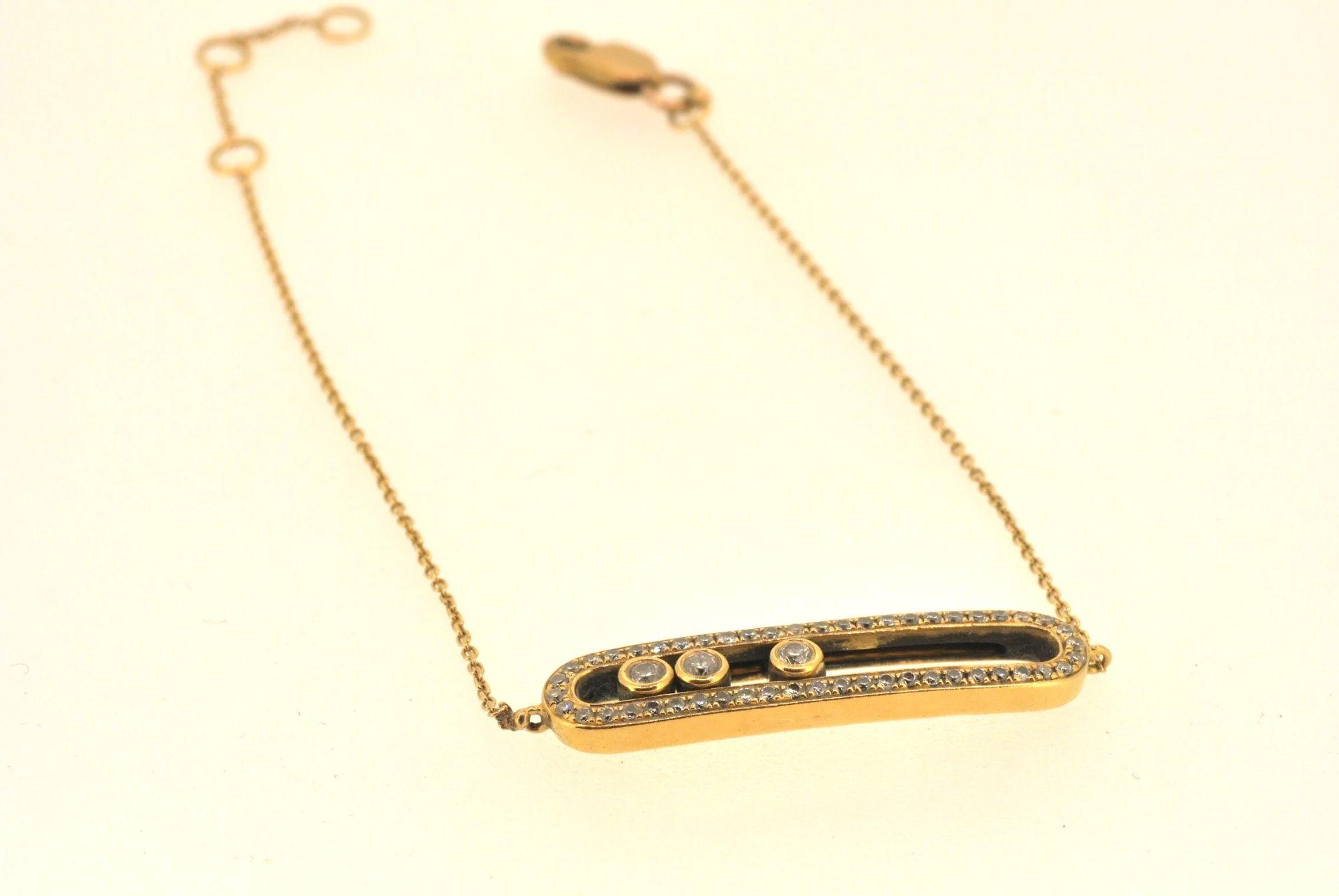 Armband GG 585, Diamanten ca. 0.65 ct, 3,94 Gramm