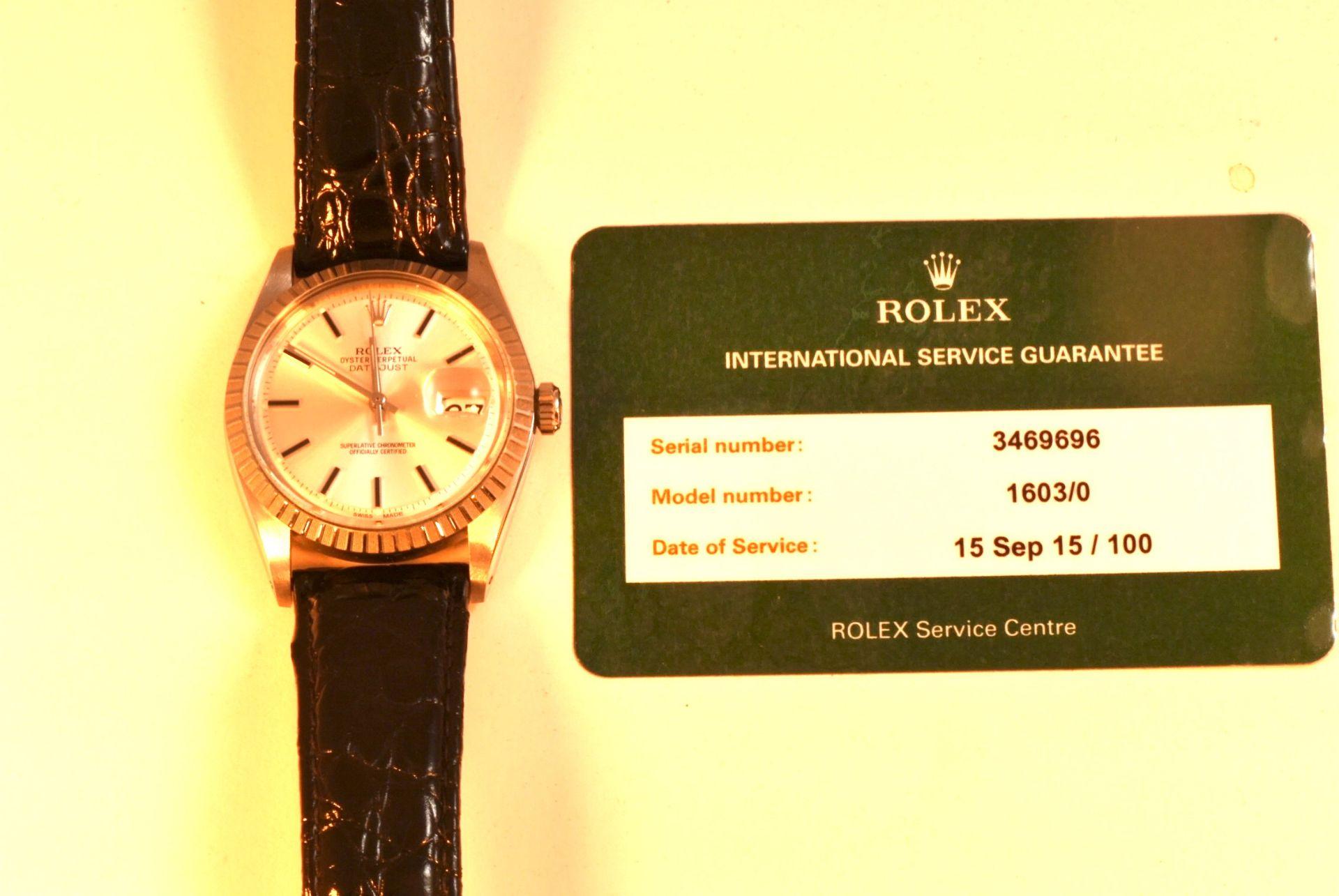 Rolex Oyster Perpetual Datejust Stahl Automatik, Papiere