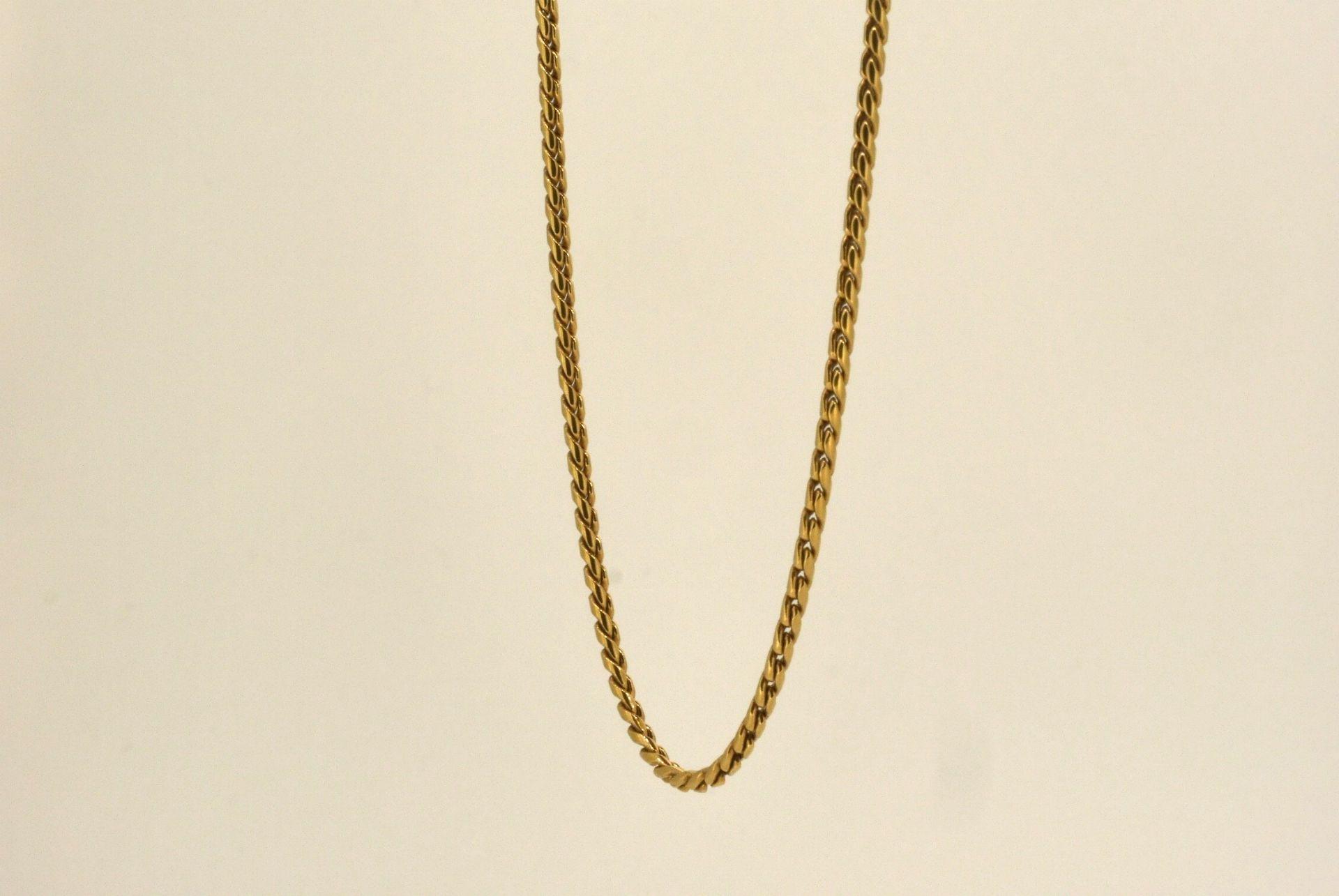 Halskette GG 750, 45 cm, Karabiner defekt, 7,45 Gramm