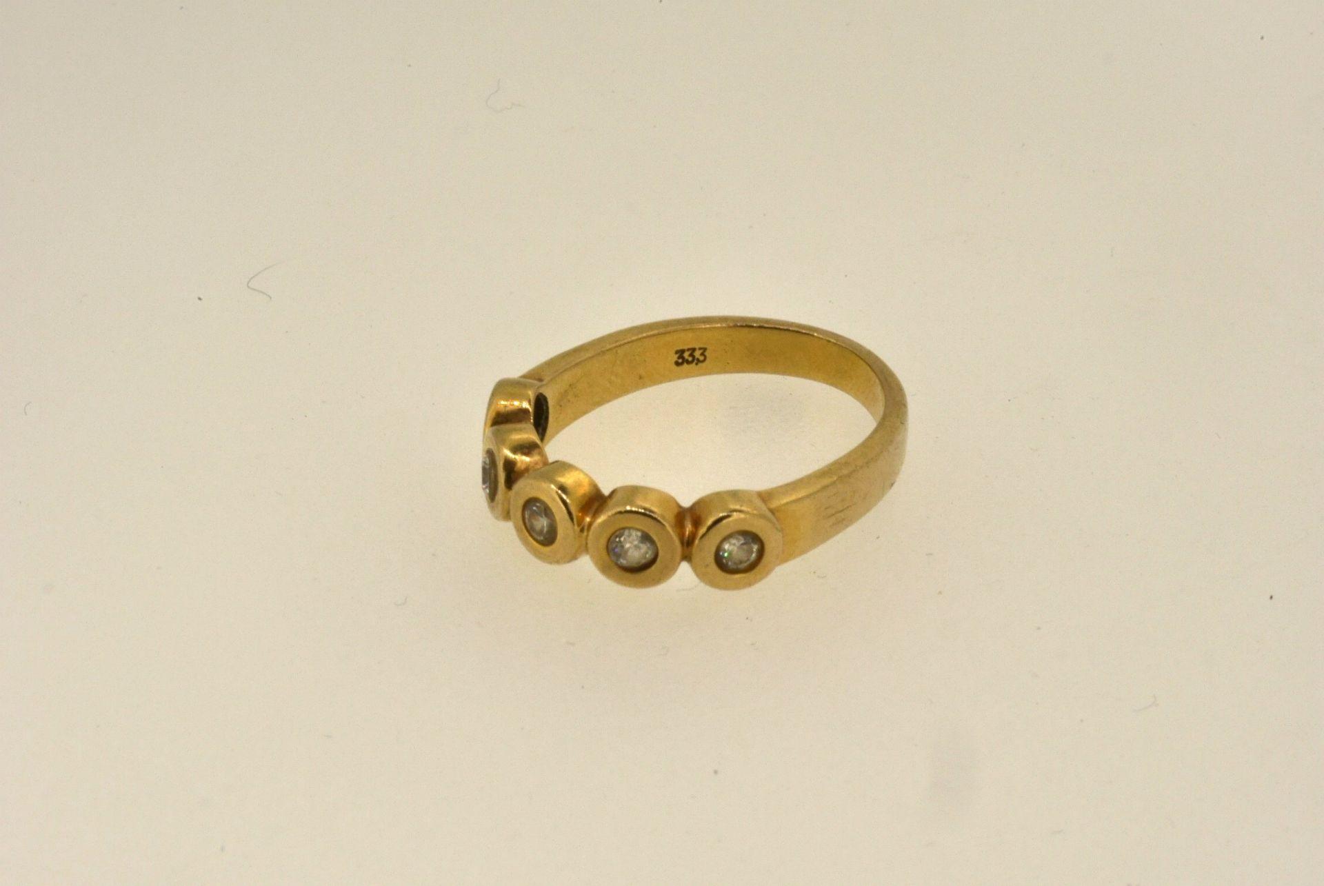 Ring GG 333, Zirkonia, 3,36 Gramm - Bild 3 aus 4