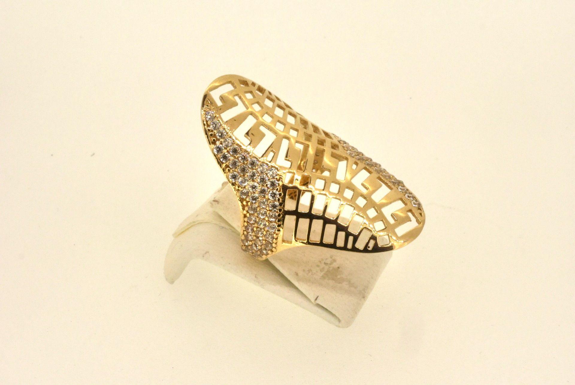 Ring GG 585, Zirkonia, 4,62 Gramm