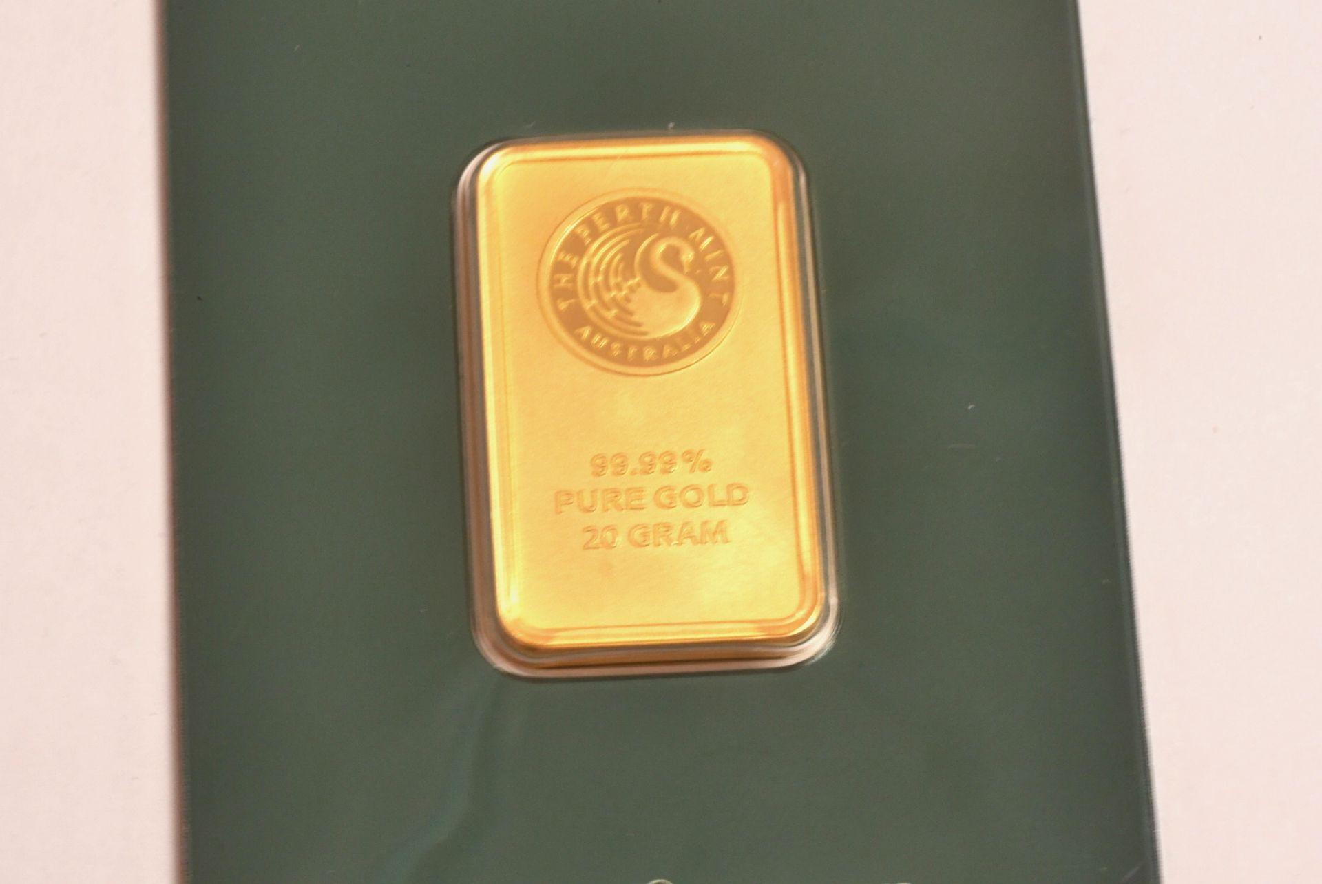 Goldbarren 20 Gramm - Bild 3 aus 4