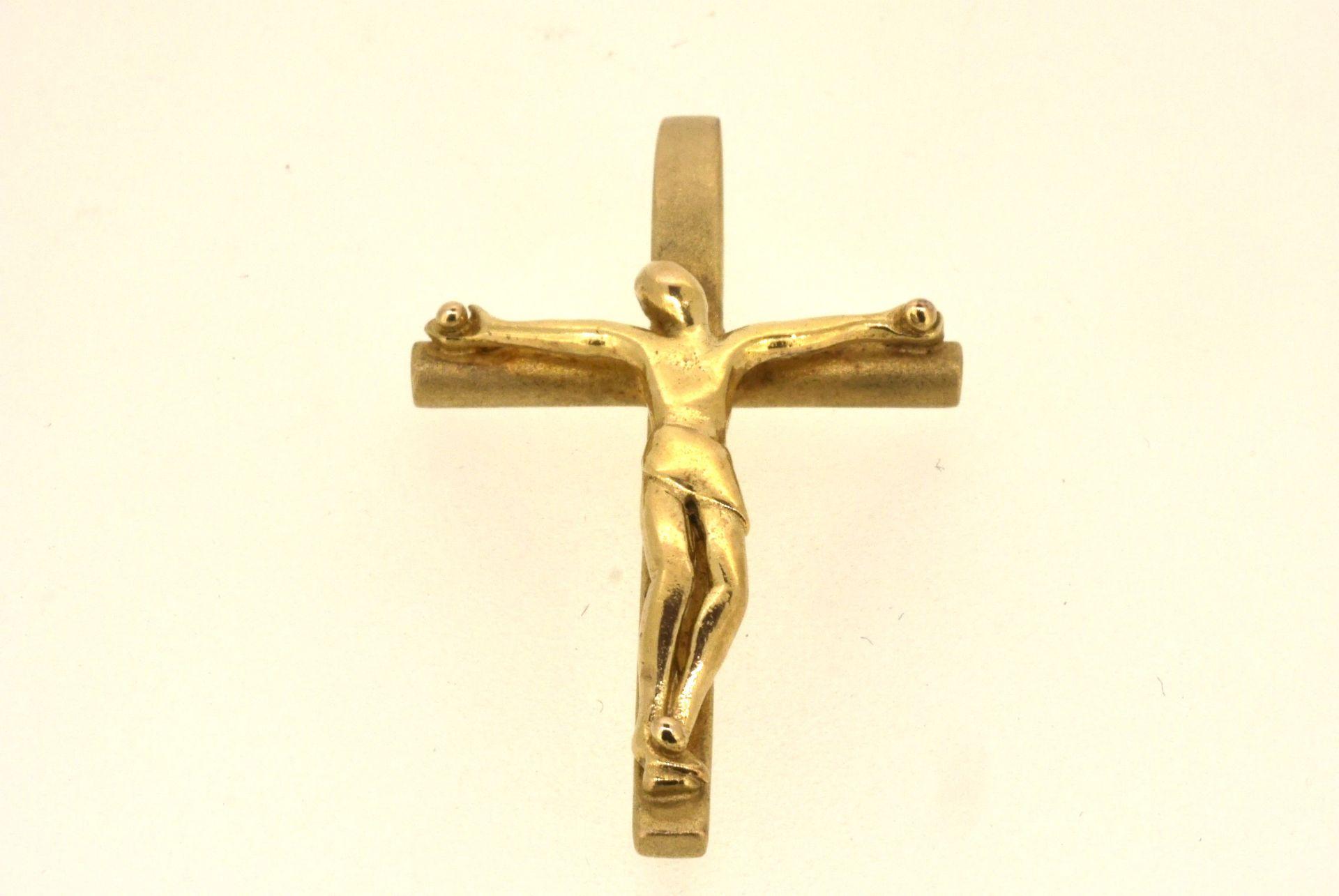 Kreuzanhänger, Silber 925 vergoldet, 3,65 Gramm