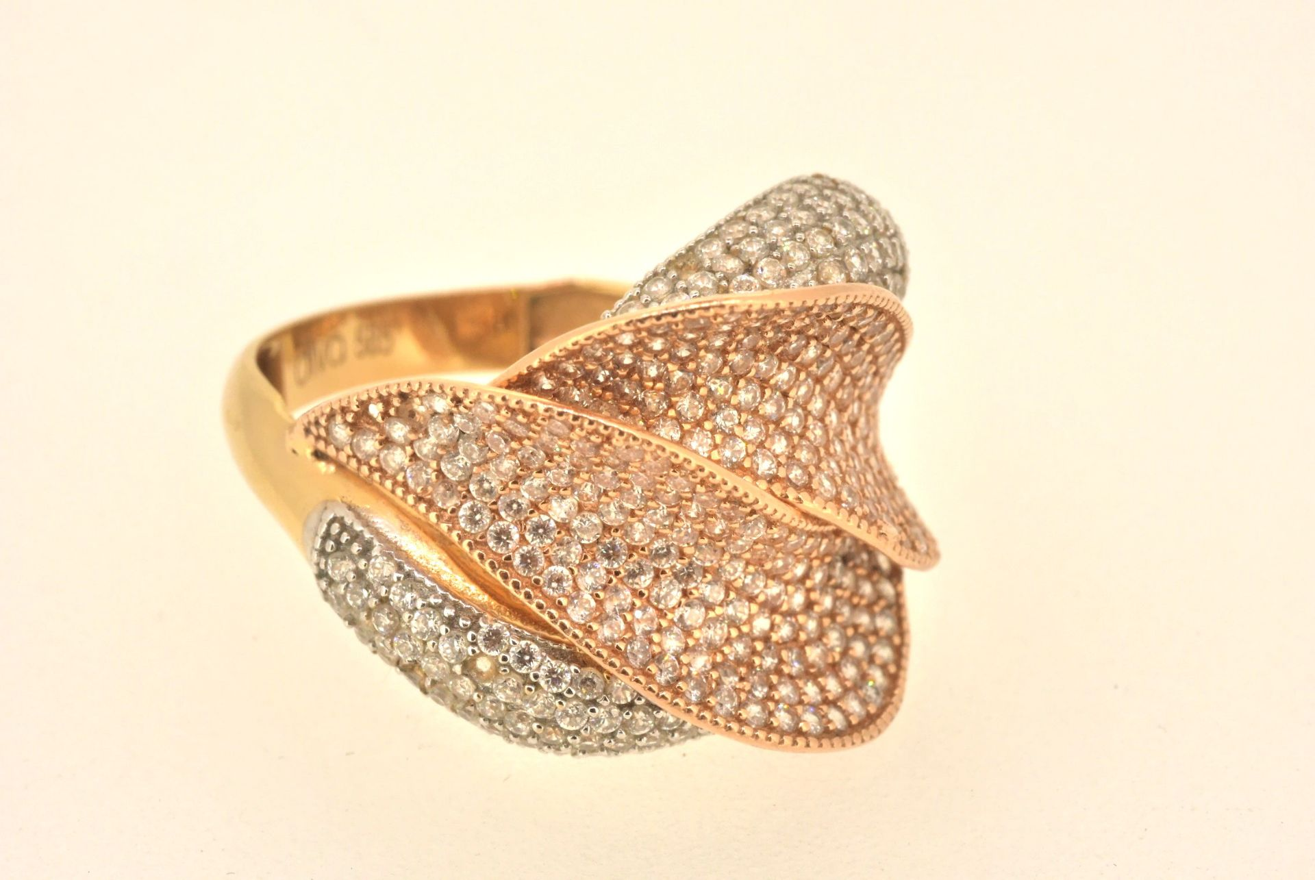 Ring GG 585, Zirkonia, 5,69 Gramm