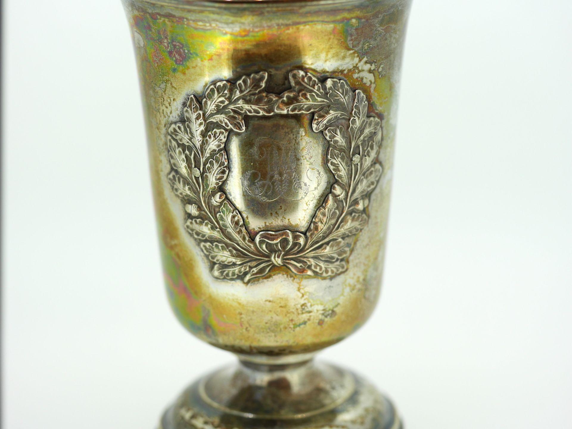 Becher aus 13 lötigem Silber, 12 cm hoch, Gewicht 96 Gramm