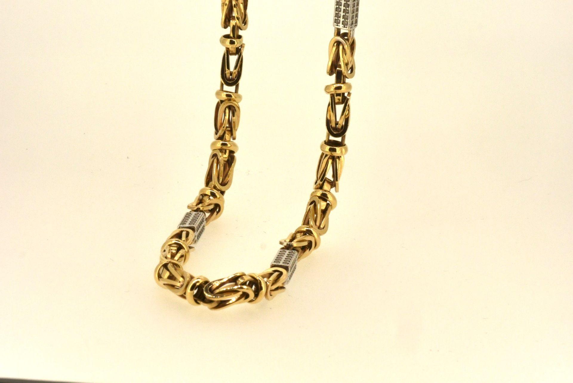 Halskette WG/GG 585, Zirkonia, 64 cm, 29,35 Gramm