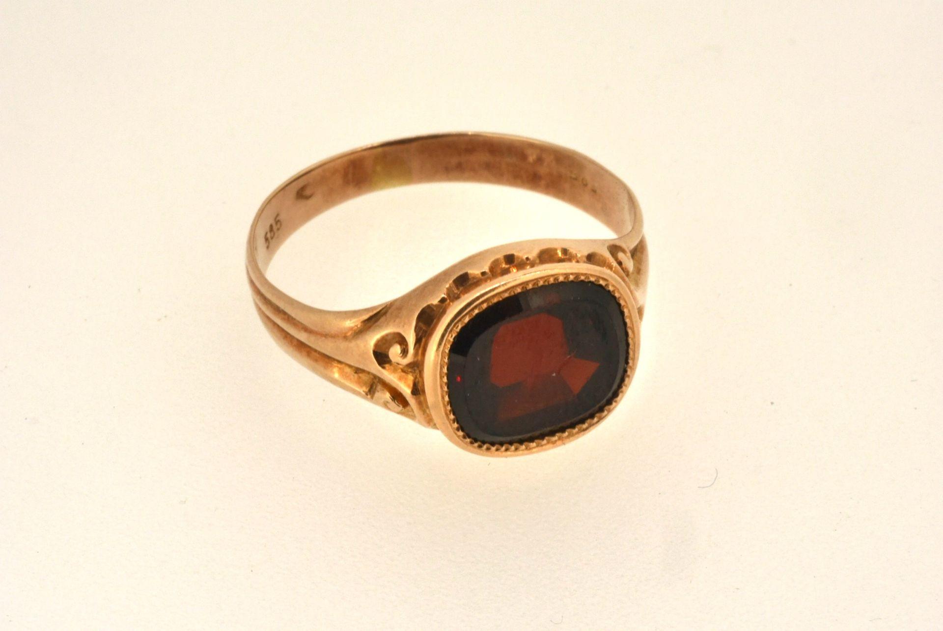 Ring RG 585, Granat, 4,37 Gramm