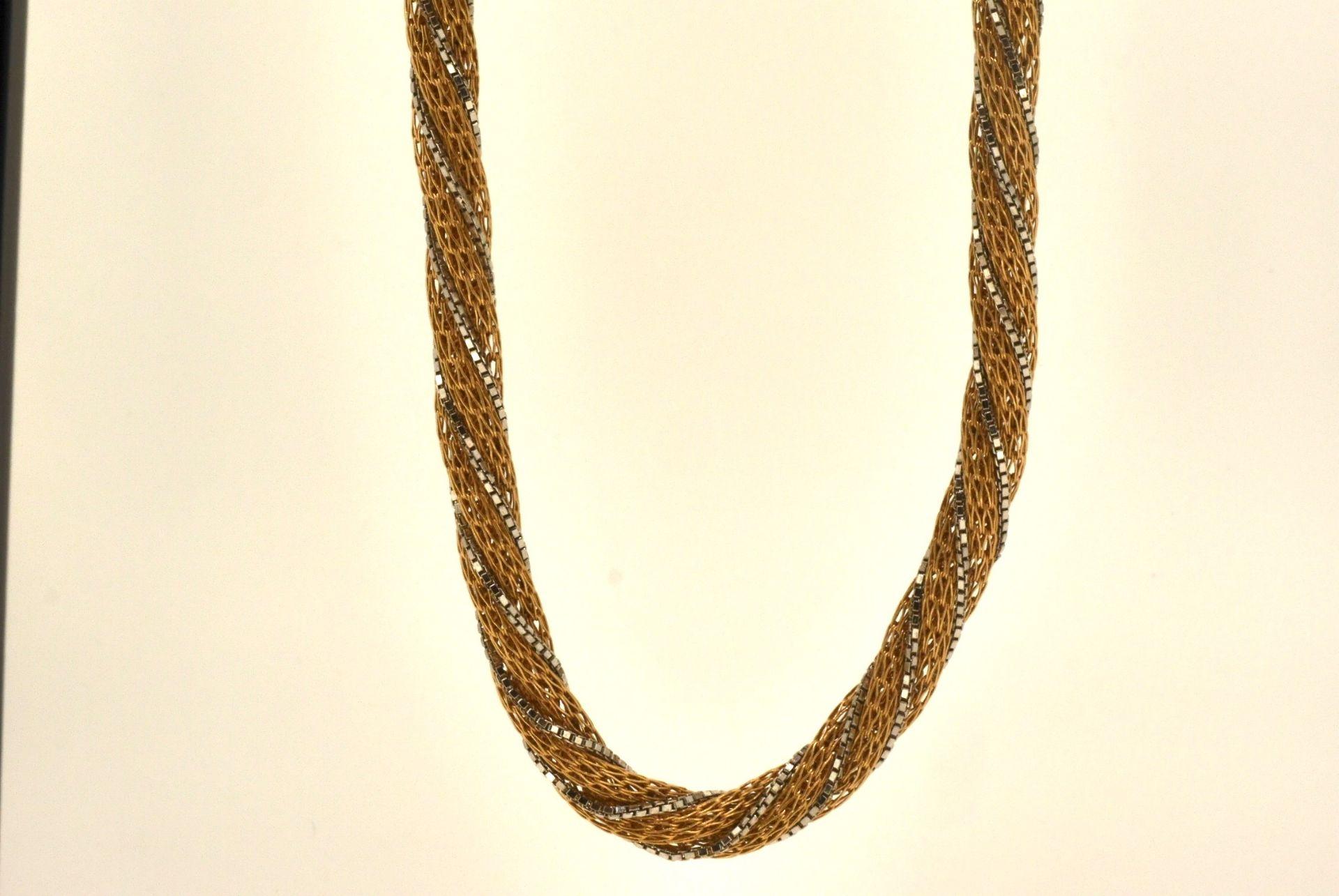 Collier WG/GG 750, 50 cm, 34,6 Gramm - Bild 2 aus 4