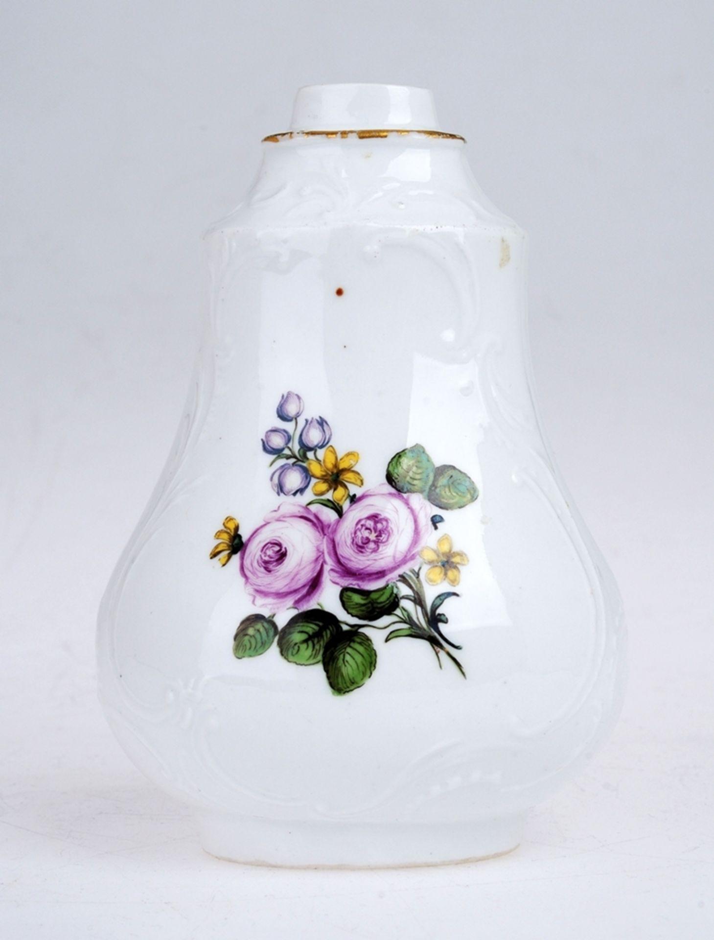 Flakon mit Blumenmalerei - Bild 2 aus 3