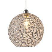 Easy Fit 30cm Metal Sphere Pendant Shade - RRP £28.99