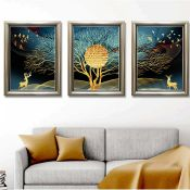 Luxury 3 Piece Graphic Art Set on Canvas - RRP £147.99