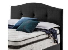 x1 Carpet Right Ex-Display 5ft Silentnight Fulham Floor Standing Headboard Midnight  RRP £499 
