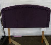 x1| Carpet Right Ex-Display 4ft 6 Sleepright Luciana Floral Headboard Aubergine|RRP £229|