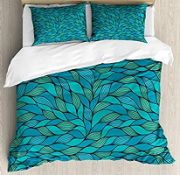 Abstract Wave Ocean Motif Duvet Cover Set - RRP £29.99