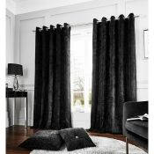 Crushed Velvet Eyelet Curtains - RRP £45.00