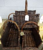 5 WICKER LOG BASKETS