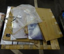 PALLET OF MAINLY DAMAGED PRINTS, CLOCKS