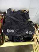 BOX OF 10 BLACK DOG COATS (VARIOUS SMALL SIZES)
