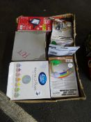 BOX OF RAINBOW PROJECTORS, FLOOD LIGHTS & ODDS
