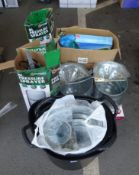 QTY OF MOP BUCKETS, PRESSURE SPRAYERS & PADDLING POOL & ODDS