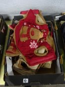 BOX REINDEER DOG COATS (VARIOUS SMALL SIZES)