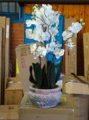 Orchid Centerpiece in Planter