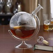 Glass World Map Globe Decanter - RRP £25.99