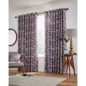 Jacaranda Lined Eyelet Room Darkening Curtains - RRP £117.00