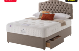 Carpet Right Ex-Display 5ft Rest Assured Kensington Divan Bed With 2 Drawers & Headboard|RRP £2049|