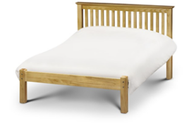 Carpet Right Ex-Display 5ft Bali Wooden Bed Frame & Damaged Memory Foam Mattress|Screws Missing|RRP