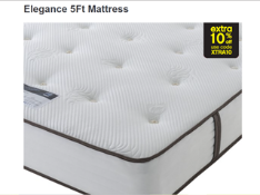 Carpet Right Ex-Display 5ft Sealy Elegance Mattress - RRP £779| 5ft 4 Drawer Cream & White Divan Bas