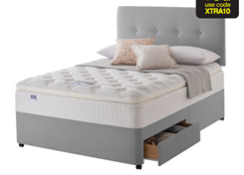 Carpet Right Ex-Display 5ft Silentnight Windermere Divan Bed 2 Drawers & Headboard|RRP £929|