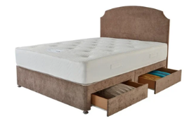 Carpet Right Ex-Display 5ft Sleepright Modena Divan Bed With 4 Drawers|No Headboard|RRP £549|