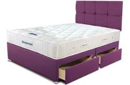 Carpet Right Ex-Display 5ft Sleepeezee Backcare Elite Divan Bed With 4 Drawers & Headboard|RRP £1549