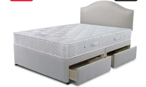 Carpet Right Ex-Display 5ft Nestledown Eton Divan Bed With 4 Drawers & Headboard|RRP £1199|