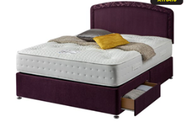 Carpet Right Ex-Display 5ft Sleepright Lorenza Divan Bed With 2 Drawers & Headboard|RRP £649|