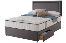 Carpet Right Ex-Display 5ft Sealy Energise Divan Bed 2 Drawers & Headboard|RRP £1309|