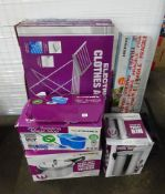 X2 ELECTRIC CLOTHES AIRERS, PEDAL BIN, PRESSURE COOKER & ODDS