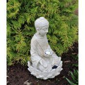 Leida Solar Sitting Buddha Garden Art - RRP £25.99