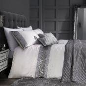 Monroe Silver Sequin Duvet Cover Set - RRP £60.00