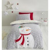 Cosy Snowman Duvet Cover Set - RRP £38.99