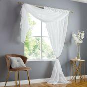 Caigan Slot Top Sheer Curtain - RRP £16.99