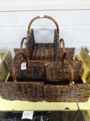 X5 WICKER LOG BASKETS