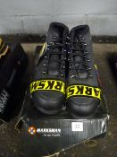 SIZE 10 BLACK STEEL CAPPED WORK BOOTS