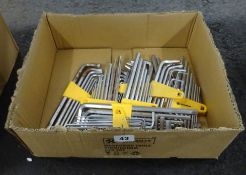 BOX OF 10 ALLEN KEY SETS