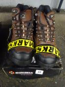 SIZE 8 BROWN STEEL CAPPED WORK BOOTS